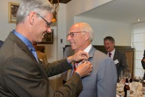 Oud-voorzitter Wim Beltman ontvangt speld erelidmaatschap