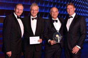 SMA Piet Heyn Award 2015 winnaar Ortec Coen Bos Henk Broeders Robbert de Haan Aart van Beuzekom