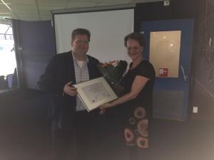 Uitreiking SMA accreditatie certificaat HAN Jeanet Castel Eiso Bleeker