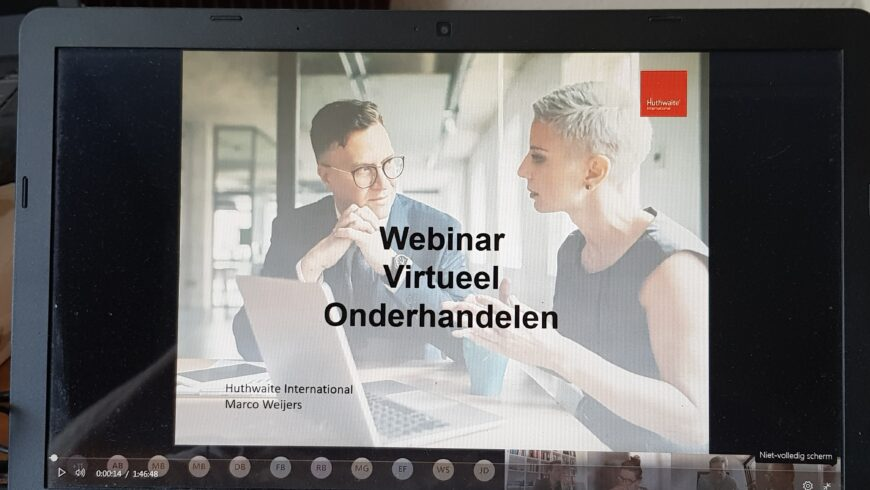 23-06-2020 : Webinar over Virtueel Onderhandelen